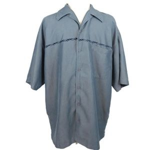 Eighty Eight Men's Rayon Button Down Shirt Large